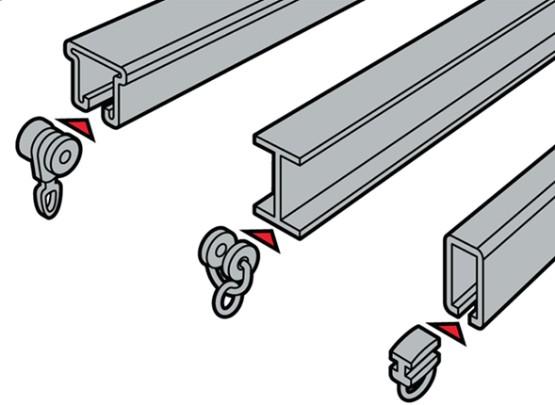 Rieles de cortinas tubos de aluminio angulos de for Rieles para toldos de techo